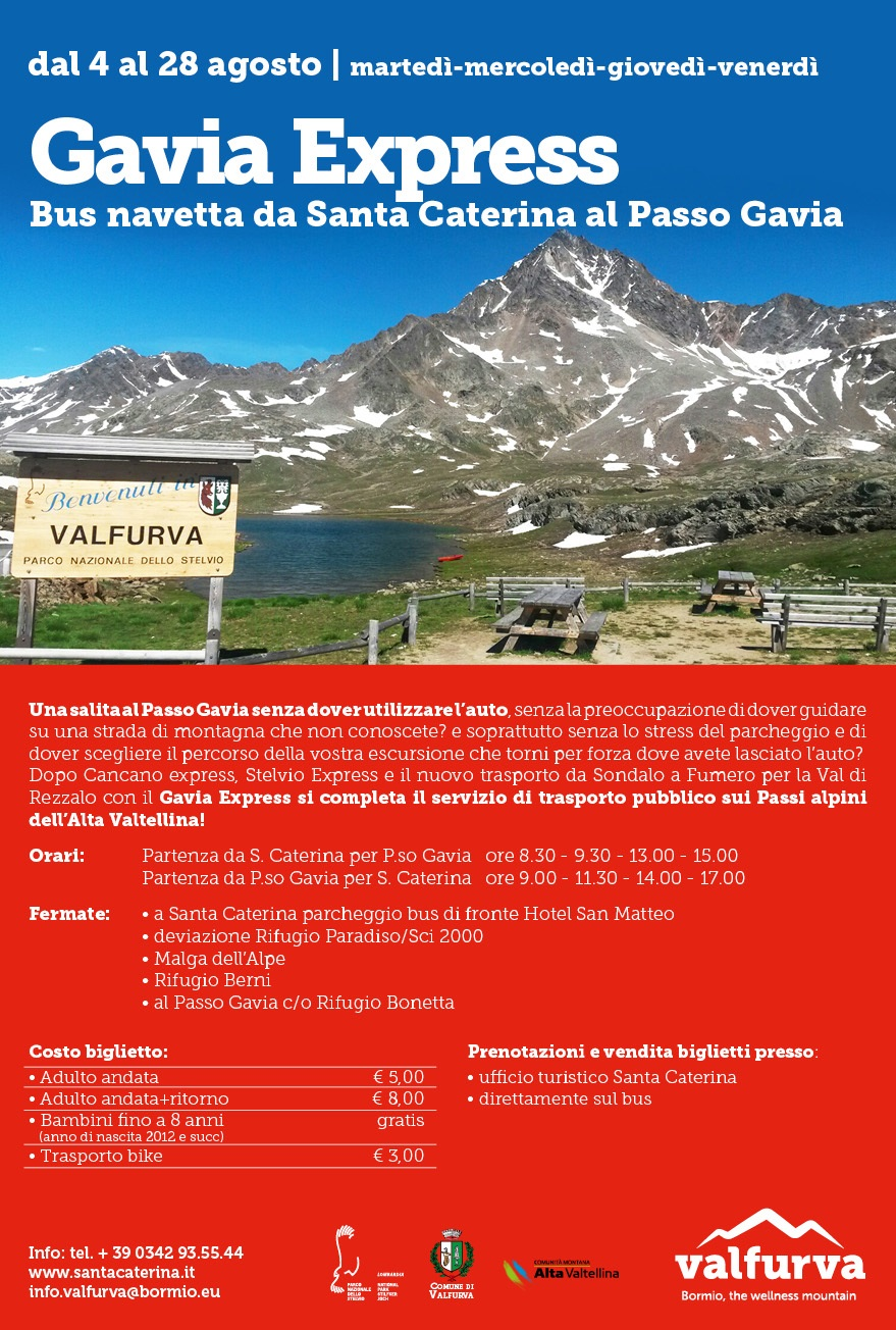 Servizio Bus Navetta – Gavia Express 2021